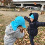 公園で落ち葉遊びをしたよ☆~仙台市太白区りっきーぱーく保育園長町~